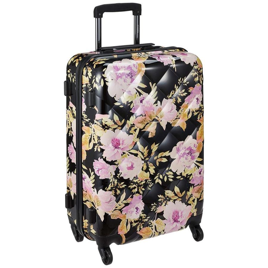 リエンダ CARRY CASE L VINTAGE ROSE FLOWER PRINT 53L 65 cm 3.5kg ブラック