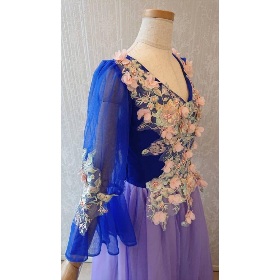 KD0009 ステージ 演奏会 カラオケ 衣装 ドレス ロイヤルブルー F|shallwedance|08