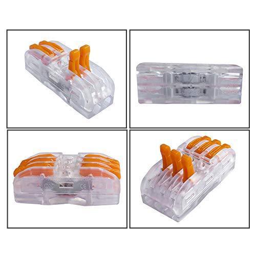 FULARRR 30個 プレミアム SPL-2 / SPL-3レバーナットワイヤコネクタ、バイラテラル 導体コンパクトワイヤコネクタ、ワンタッチコネク|shanti-store|02
