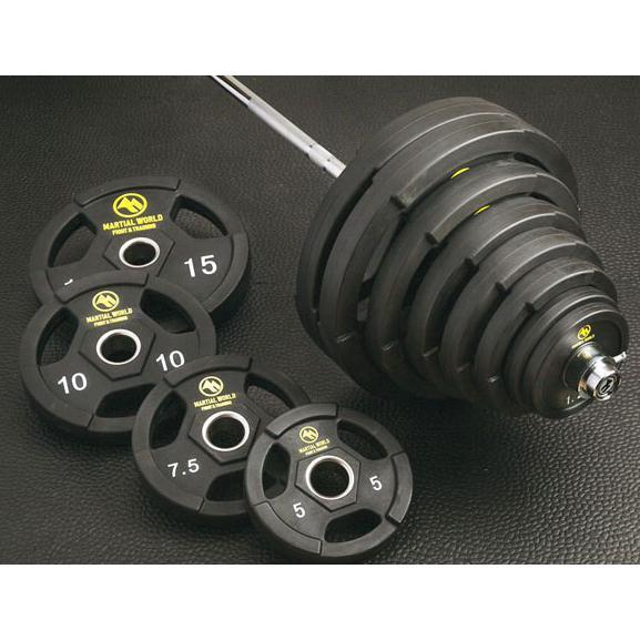 楽天 (オリンピックバーベルセット)(商品)マーシャルワールド 50mm ポリウレタンオリンピックバーベルセット110kg UB110(送料別), 八代市 7077443f