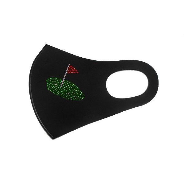 Shareki マスクアクセサリー マスクホットフィックス  キラキラ ラインストーン おしゃれマスク  ホットフィックス ゴルファー マスク hf-golf-m shareki-golf 06