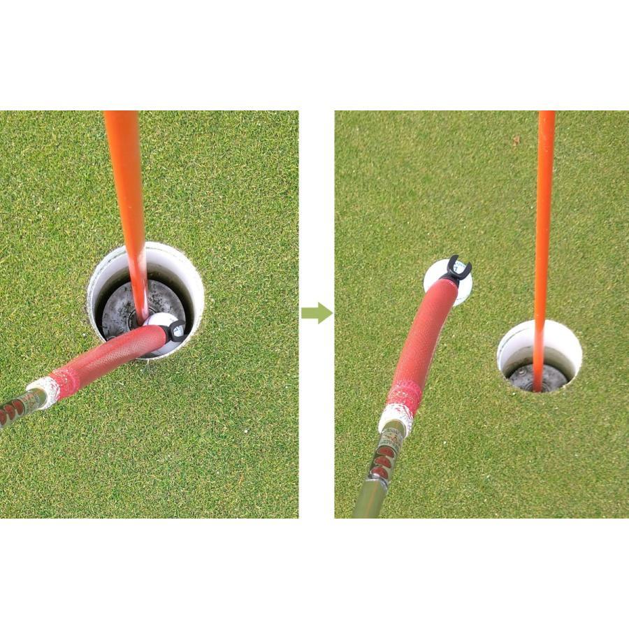 ゴルフボールピックアップ ゴルフボール拾い器具 パターグリップ用  折りたたみ 軽量 非売品 ラインストーン付き ハートティー(5本)付き shareki-golf 02