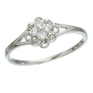 再再販! プラチナダイヤリング 指輪 デザインリング3型 フローラ 11号, 北群馬郡 4f0e0053