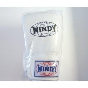 WINDY ウインディ 本革製キックボクシング グローブ 白 14オンス