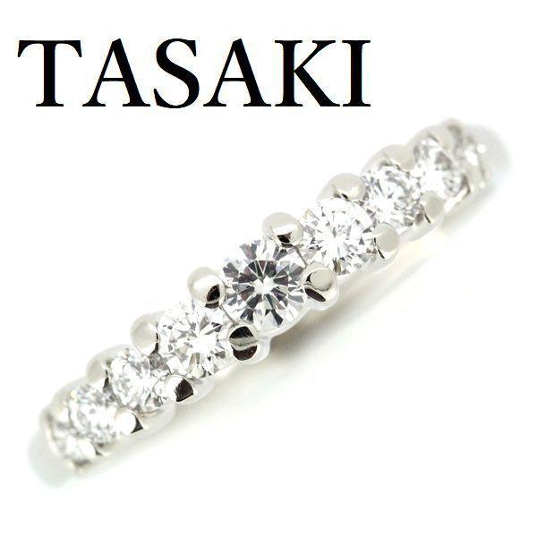 田崎真珠 TASAKI ダイヤモンド 0.34ctエタニティー リング Pt900 9号|shelly-jewelers|02