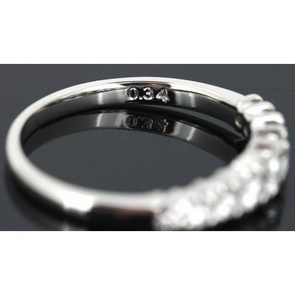 田崎真珠 TASAKI ダイヤモンド 0.34ctエタニティー リング Pt900 9号|shelly-jewelers|05