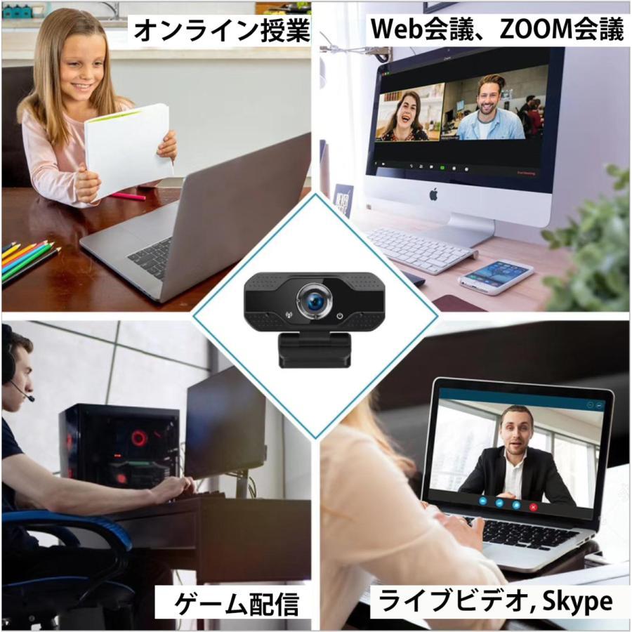 webカメラ フルHD マイク内蔵 1080p 三脚付 USB-C変換 レンズキャップ 広角 高画質 電話会議 shianabo-store 07