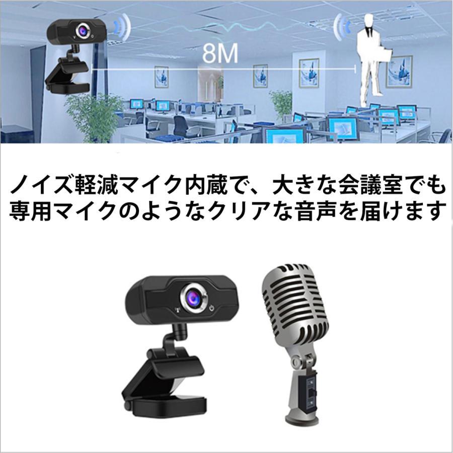 webカメラ フルHD マイク内蔵 1080p 三脚付 USB-C変換 レンズキャップ 広角 高画質 電話会議 shianabo-store 08