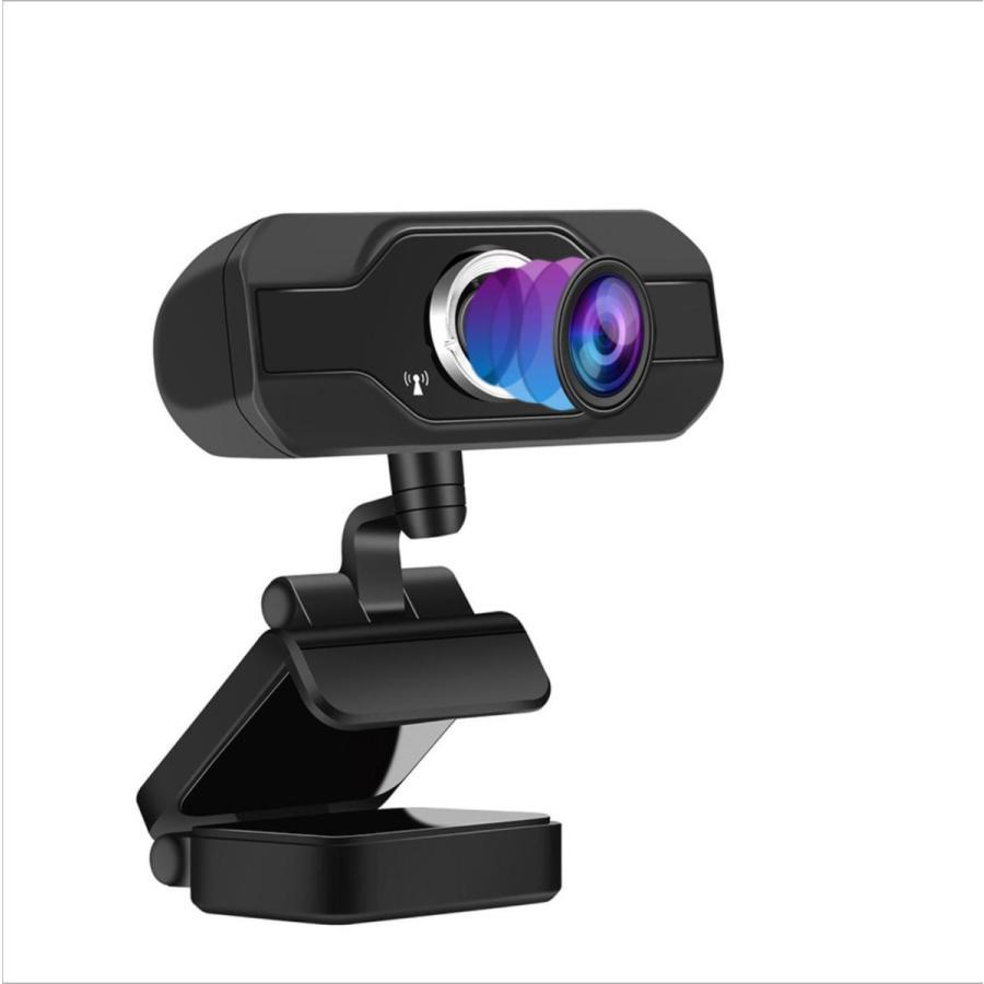 webカメラ フルHD マイク内蔵 1080p 三脚付 USB-C変換 レンズキャップ 広角 高画質 電話会議 shianabo-store 10