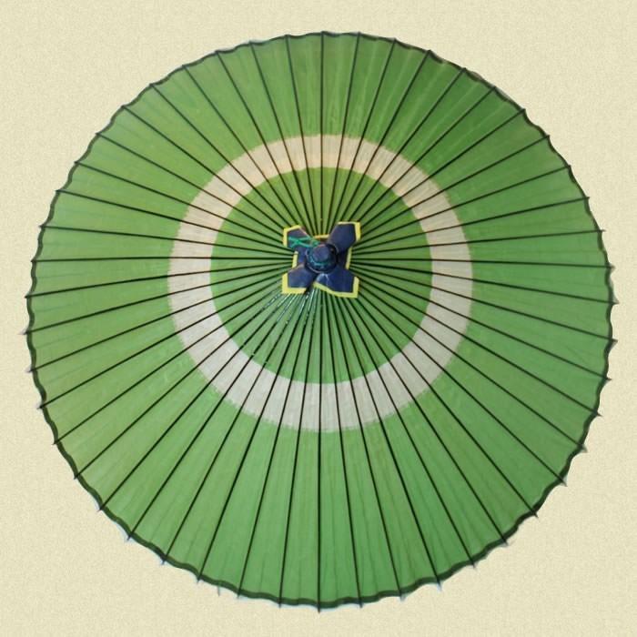 【翌日発送可能】 羽二重蛇の目傘 グリーン, SWEETBABY 7e04f435