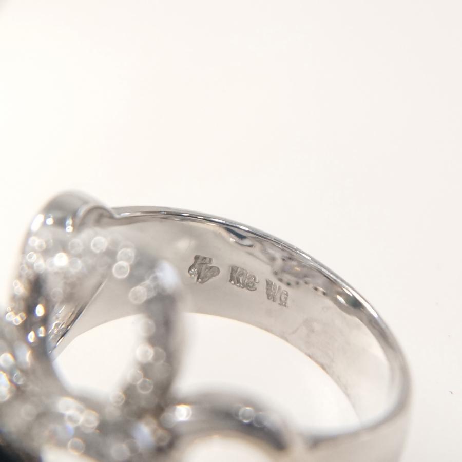 【送料無料】ポンテヴェキオ Ponte Vecchio K18WG ダイヤモンド計0.80ct ハートモチーフリング 10号★新品仕上げ済美品★|shichi-nishigaki|05