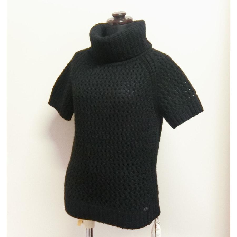 【送料無料】【未使用品】フォクシー FOXEY ポワヴル Poivre  半袖セーター 40 黒 34819 ローゲージニット|shichi-nishigaki