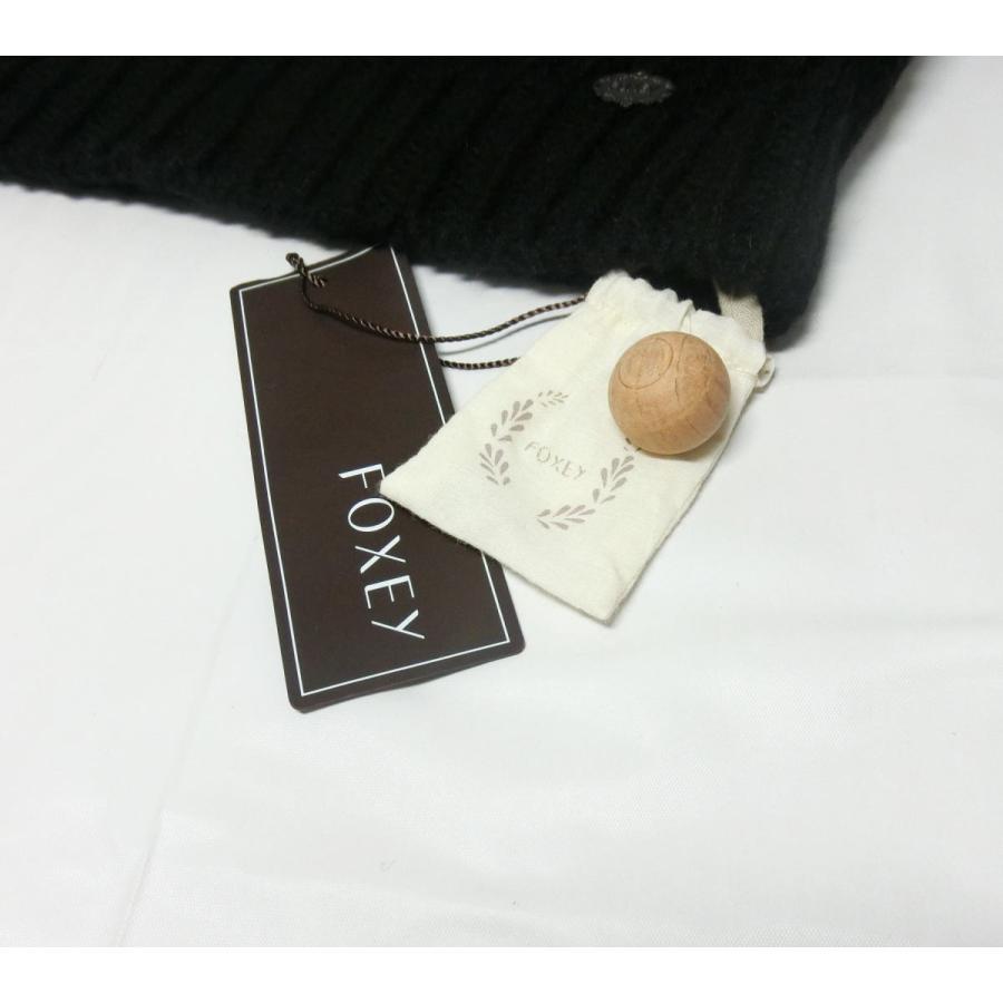 【送料無料】【未使用品】フォクシー FOXEY ポワヴル Poivre  半袖セーター 40 黒 34819 ローゲージニット|shichi-nishigaki|02