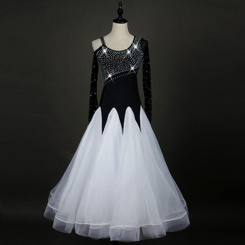 オーダーメード 社交ダンスドレス  ラテンドレス モダンドレス ロングスカート ダンスウエア 競技 デモ ダンス衣装 ワンピース