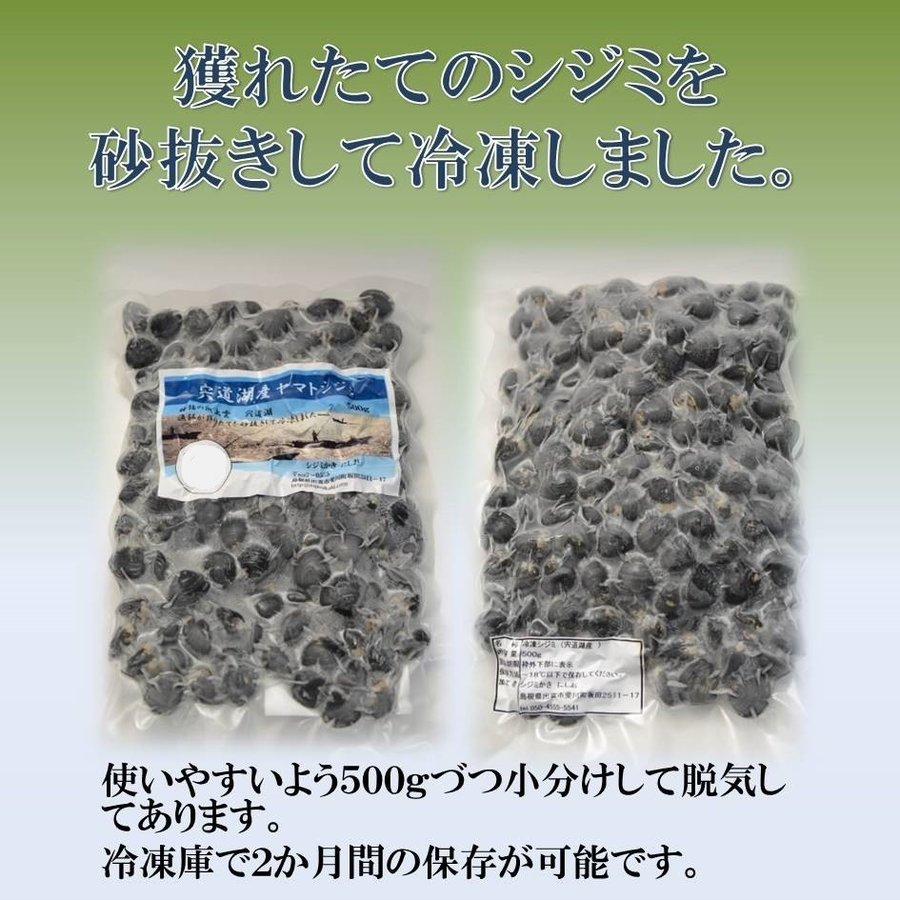 シジミ 宍道湖産 Lサイズ 1kg 送料無料 冷凍|shijimikaki-nishio|02