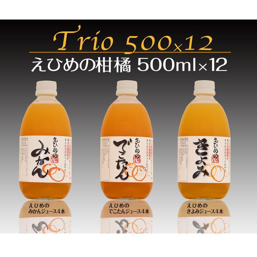 えひめの柑橘ストレートジュース詰め合わせ3種 500ml【12本入】 shimanami
