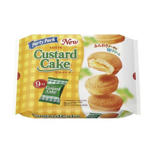 ロッテ #カスタードケーキ パーティーパック 9個 9657|shimiz
