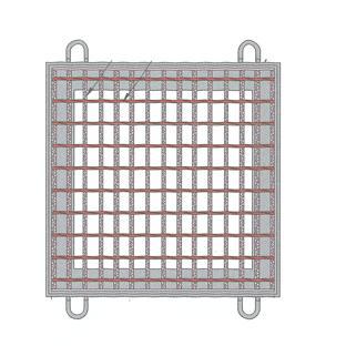 (株)中部コーポレーション 正方形桝蓋(受枠付) VG5BF50-55 (桝穴500×500)T-14