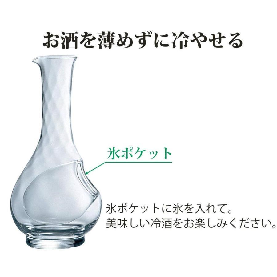 東洋佐々木ガラス ワインクーラー クリア 450ml セレーブル 小 氷ポケット付 日本製 61232|shimizunet004|04