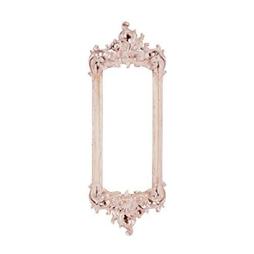 東洋石創 東洋石創 ミラー ピンク W30×H81.5×D4.3cm 鏡 壁掛け式 アンティーク 飾り プレゼント