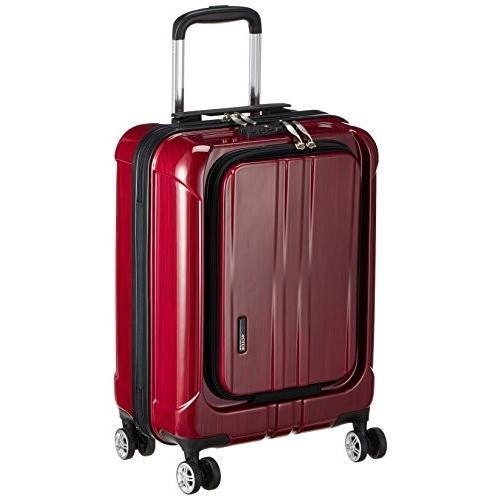 アクタス スーツケース ポライト S 35L 3.2kg フロントオープン 機内持ち込み 53.5 cm レッドヘアライン
