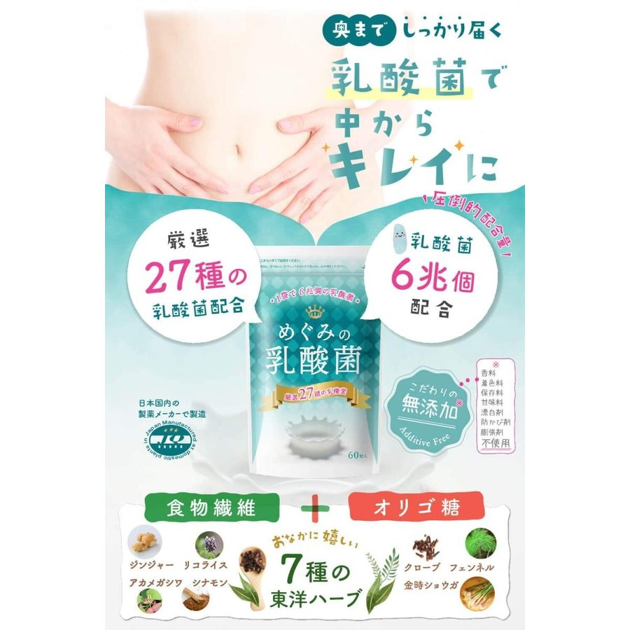 めぐみの乳酸菌 ビフィズス菌 乳酸菌 オリゴ糖 食物繊維 1袋で27種、6兆個の乳酸菌 サプリメント shimizunet004 04