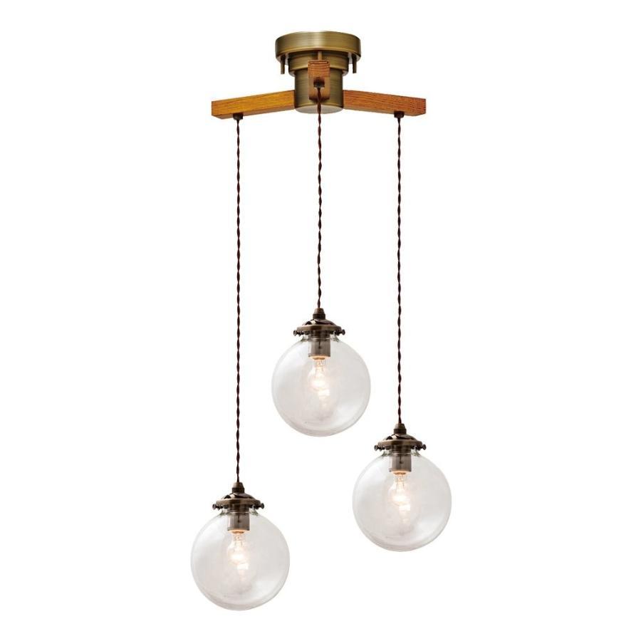 ペンダントライト ペンダントライト ペンダントライト 3灯 LED電球付属 Orelia -dangle 3- - オレリア -ダングル3- - クリア 4.5畳~6畳 LT- 59c