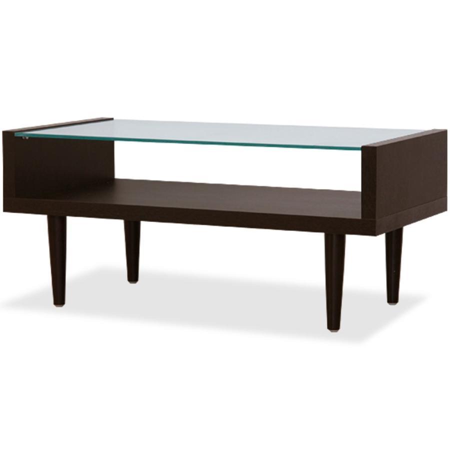 ottostyle.jp GLASS CENTER TABLE ガラスセンターテーブル ダークブラウン 幅90cm×奥行き45cm×高さ40