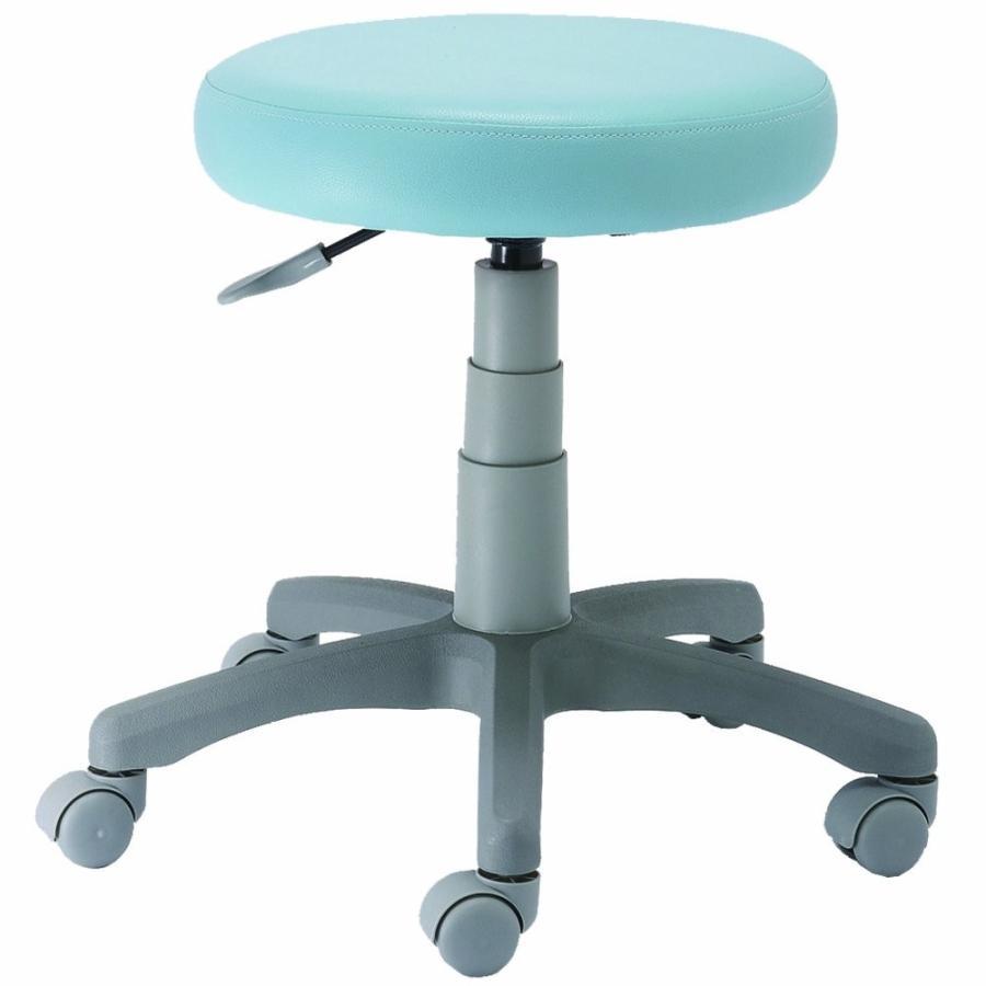 ナカバヤシ 丸椅子 ブルー ブルー ブルー W53.5×D51×H42.5~55.5cm 62f
