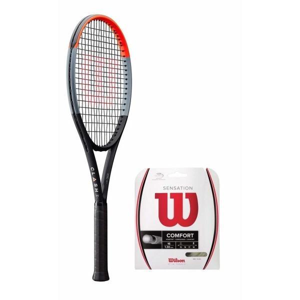最新発見 Wilson(ウイルソン) (ガット張り上げ対応) 硬式 テニスラケット CLASH 100 TOUR (クラッシュ 100ツアー) - グリップサ, 西粟倉村 cb3df485