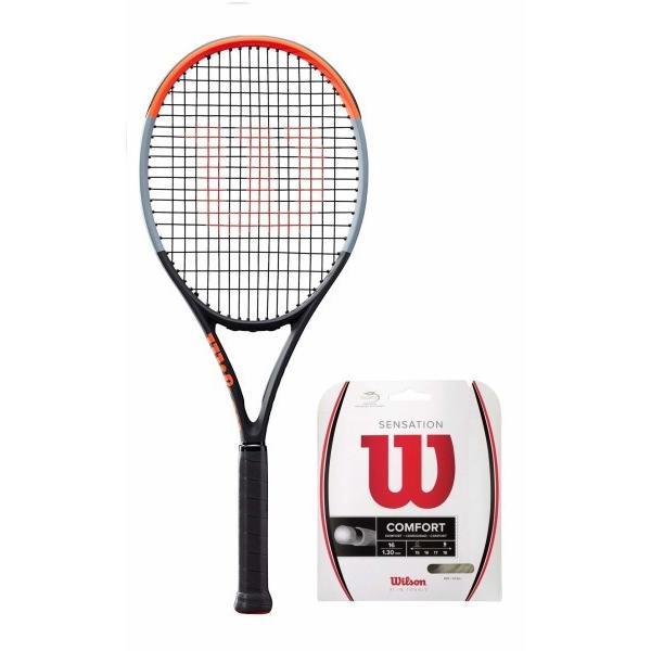 2019春の新作 Wilson(ウイルソン) (ガット張り上げ対応) 硬式 100 WR00 テニスラケット CLASH 100 硬式 (クラッシュ 100) - グリップサイズ3(G3) WR00, ルージュブラン青山:b5b33fd4 --- airmodconsu.dominiotemporario.com