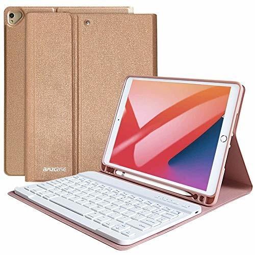 iPad 第9/8/7世代 キーボード ケース 2021/2020/2019 iPad 10.2 キーボード ケース ペンシル収納 Bluetooth キーボードカバ|shimoyana
