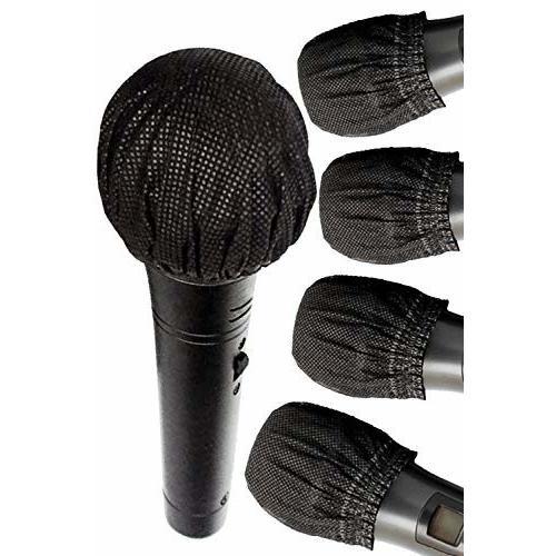 LOUDSHAKA マイクカバー 使い捨て  100個入 不織布 講演 カラオケ用 雑音防止 (ブラック)|shimoyana