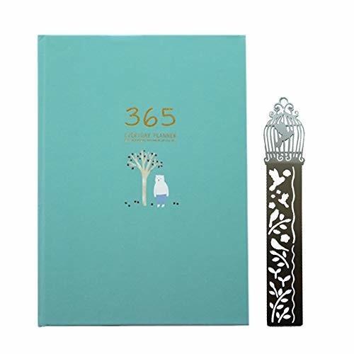 365日 日記帳 かわいい手帳 最安値挑戦 スケジュール 予定表 仕事 並行輸入品 金属 勉強 年間計画月額プラン日次計画 日付なしメモ帳