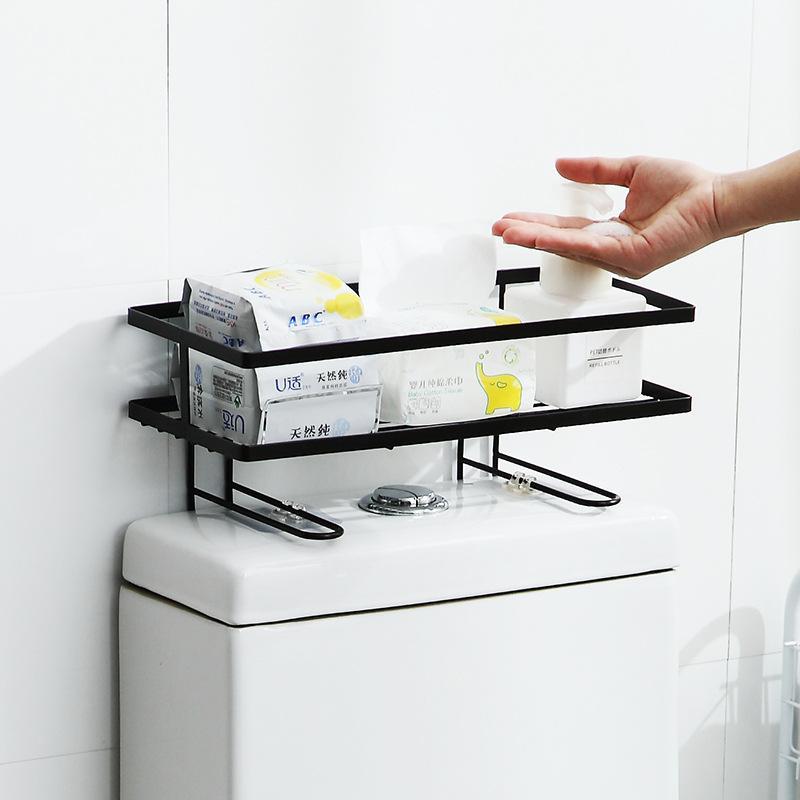 トイレ小物 棚 コーナーラック 簡単収納  浴室 ティッシュ収納 ラック スタンド おしゃれ 壁面 水切り設計 shin-8 02