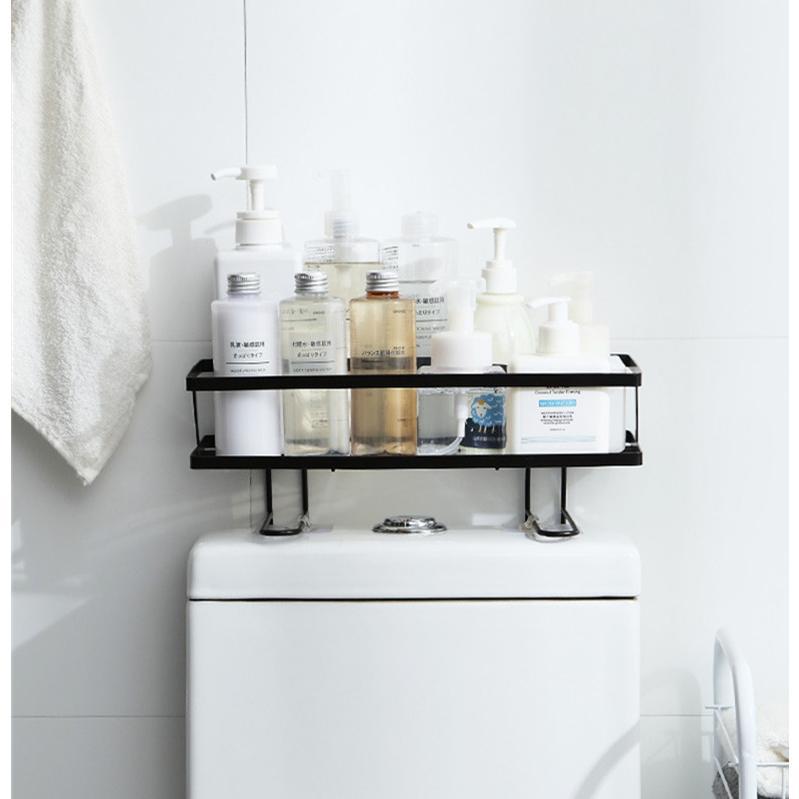トイレ小物 棚 コーナーラック 簡単収納  浴室 ティッシュ収納 ラック スタンド おしゃれ 壁面 水切り設計 shin-8 12