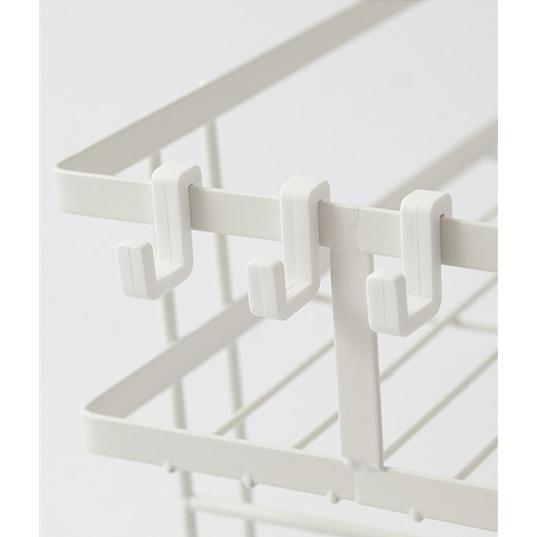 トイレ小物 棚 コーナーラック 簡単収納  浴室 ティッシュ収納 ラック スタンド おしゃれ 壁面 水切り設計 shin-8 13