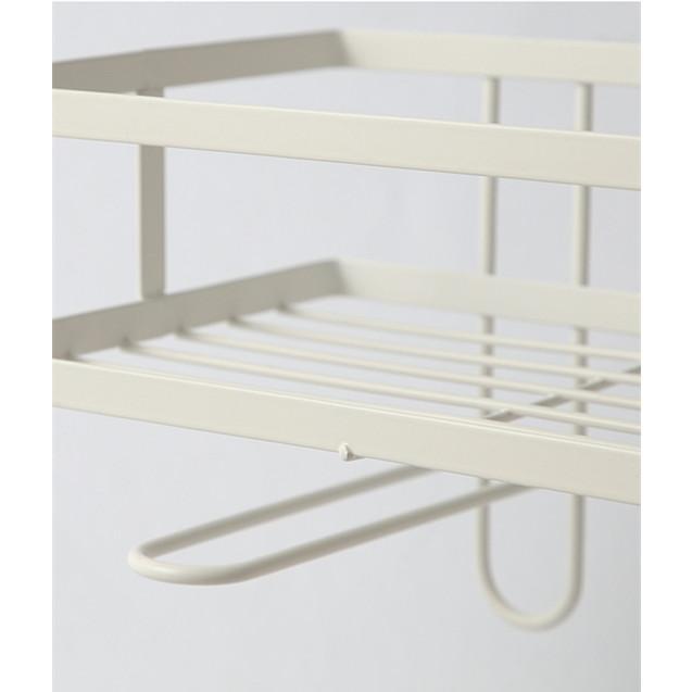 トイレ小物 棚 コーナーラック 簡単収納  浴室 ティッシュ収納 ラック スタンド おしゃれ 壁面 水切り設計 shin-8 14