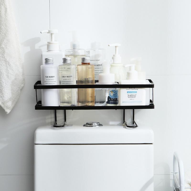 トイレ小物 棚 コーナーラック 簡単収納  浴室 ティッシュ収納 ラック スタンド おしゃれ 壁面 水切り設計 shin-8 03