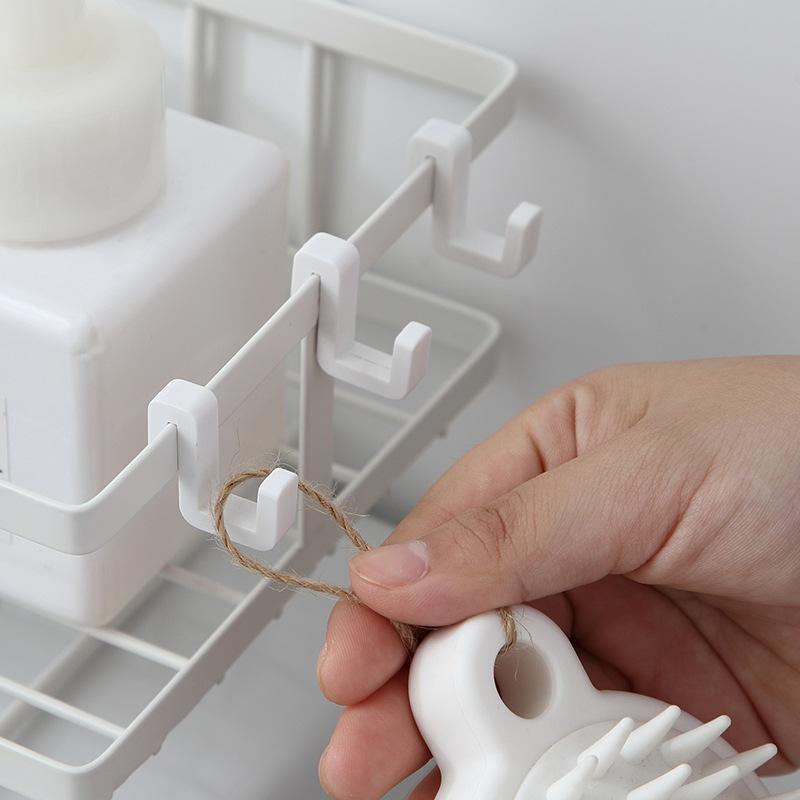 トイレ小物 棚 コーナーラック 簡単収納  浴室 ティッシュ収納 ラック スタンド おしゃれ 壁面 水切り設計 shin-8 04