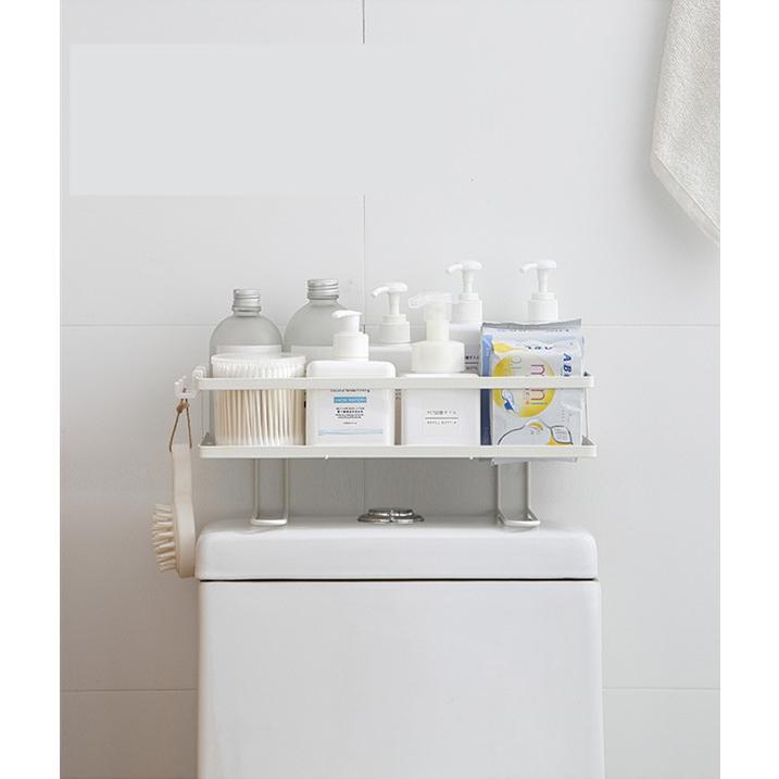 トイレ小物 棚 コーナーラック 簡単収納  浴室 ティッシュ収納 ラック スタンド おしゃれ 壁面 水切り設計 shin-8 05