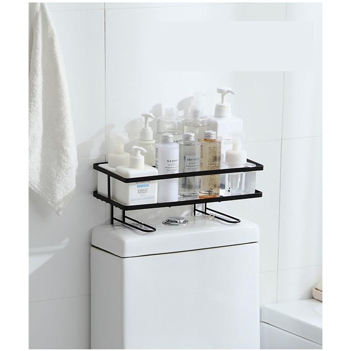 トイレ小物 棚 コーナーラック 簡単収納  浴室 ティッシュ収納 ラック スタンド おしゃれ 壁面 水切り設計 shin-8 06