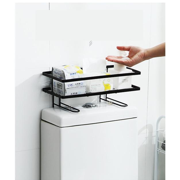 トイレ小物 棚 コーナーラック 簡単収納  浴室 ティッシュ収納 ラック スタンド おしゃれ 壁面 水切り設計 shin-8 08