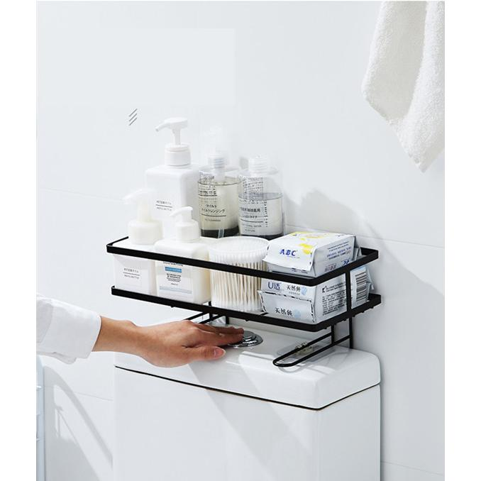 トイレ小物 棚 コーナーラック 簡単収納  浴室 ティッシュ収納 ラック スタンド おしゃれ 壁面 水切り設計 shin-8 09