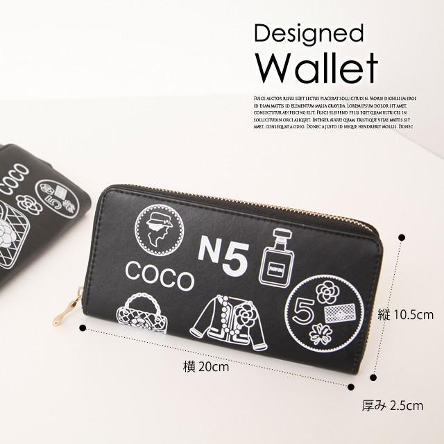 9ce609f43965 長財布 レディース 人気 ココカメリア coco camellia 財布 デザイン ...