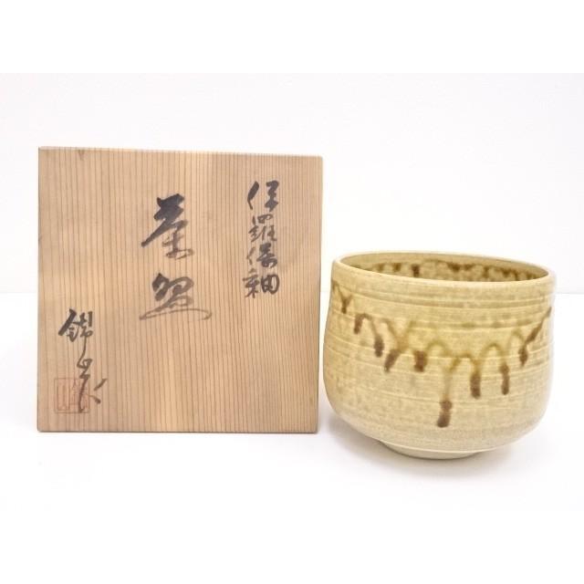 錦山造 伊羅保釉茶碗