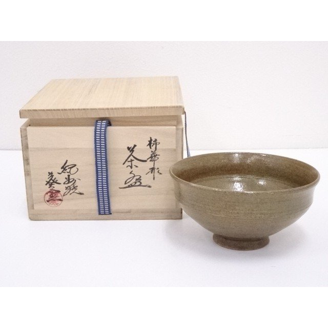 紀州焼 葵窯造 柿蔕形茶碗