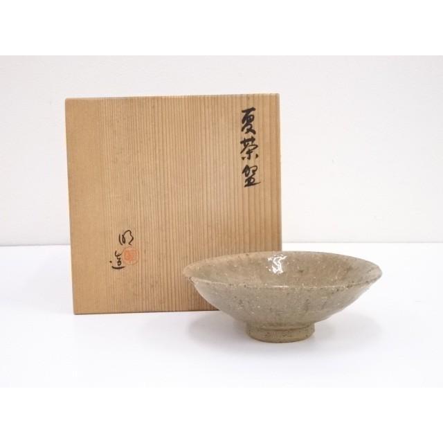 明造 灰釉夏茶碗