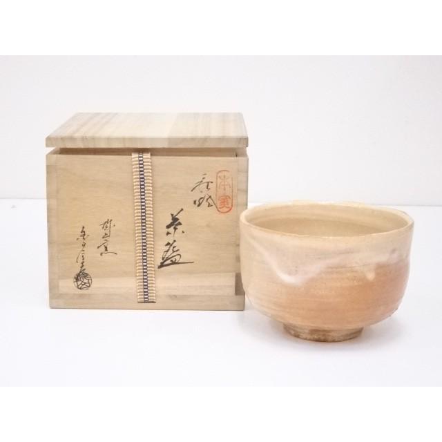 萩焼 金子信彦造 茶碗