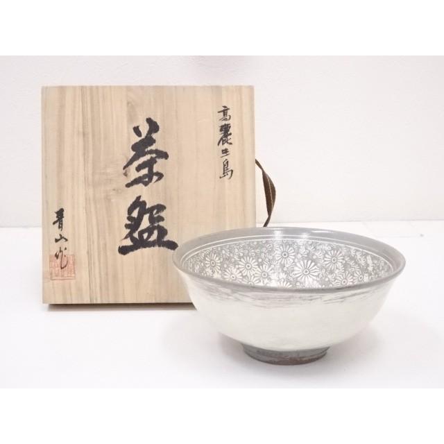 晋山造 高麗三嶋茶碗